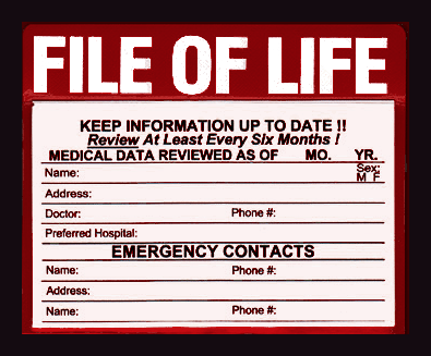 File of Life - Sandwich Community Fire Protection District
